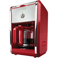 Bella Dots 12 Cup Coffee Maker - Red