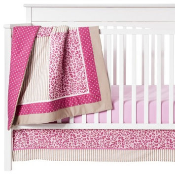 Pam Grace Creations Tabby cheetah 10 Piece Crib Set