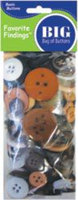 Favorite Findings Big Bag Of Buttons-Natural 4oz
