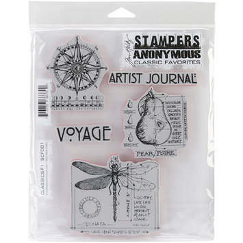 Stampers Anonymous Tim Holtz Cling Classics No.1 Rubber Stamp Set
