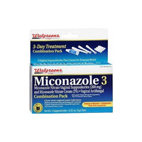 Walgreens Miconazole 3 Vaginal Suppositories and Cream Combination Pack, 3 ea