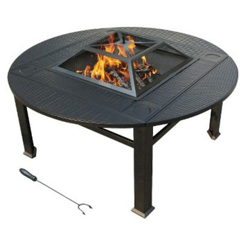 AEHK Ltd. leisurelife Venice Faux Wicker Extendable Firepit