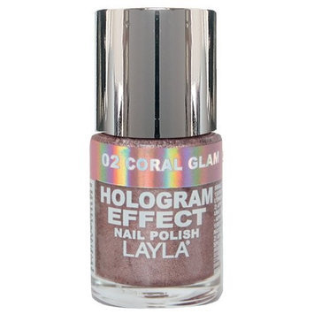 Layla Cosmetics Layla Hologram Effect Nail Polish in CORAL GLAM