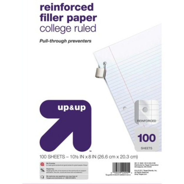 reinforced filler paper college ruled Showing search results for reinforced filler paper national rip proof reinforced filler paper ruled five star reinforced filler paper 20lb, college rule.