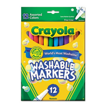 Crayola 12 Ct. Washable Fine Line Markers - Assorted