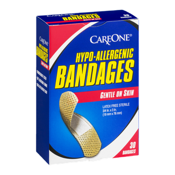 CareOne Hypo-Allergenic Bandages - 30 CT
