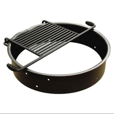 Leisure Craft Flip Grate Fire Ring in Black