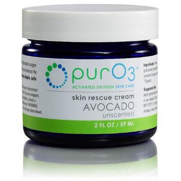 Ozonated Skin Rescue Cream Avocado Oil PurO3 2 oz Cream