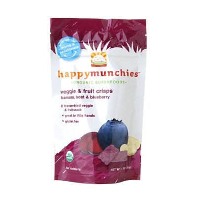 Happy Munchies Organic Veggie and Fruit Crisps Banana Beet & Blueberry