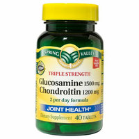 Spring Valley Triple Strength Glucosamine/Chondroitin Joint Health Dietary Supplement