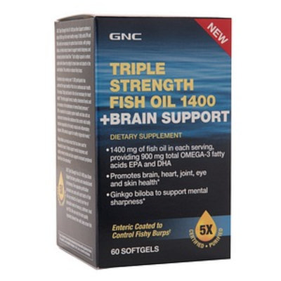 GNC Triple Strength Fish Oil 1400 + Brain Support