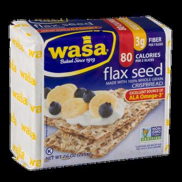 Wasa Flax Seed 100% Whole Grain Crispbread