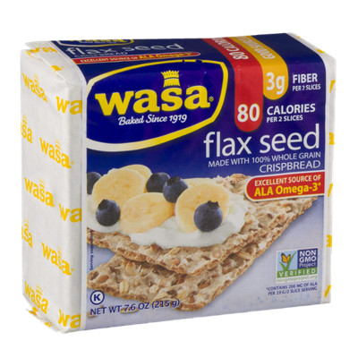 Wasa Flax Seed 100% Whole Grain Crispbread