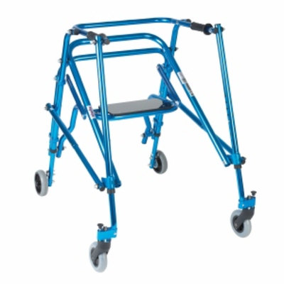 Wenzelite Rehab Nimbo Rehab Lightweight Posterior Posture Walker with Seat, Midnight Blue, Young Adult, 1 ea