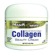 Mason Vitamins Collagen Beauty Cream 100% Pure Collagen Pear Scent, 2-Ounce Jars (Pack of 2)