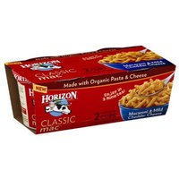 Horizon Classic Mac Macaroni & Mild Cheddar Cheese, 2.1 oz, 2 count, (Pack of 6)