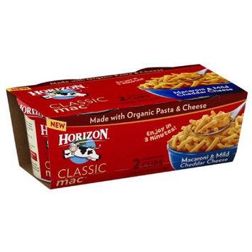 Horizon Classic Mac Macaroni & Mild Cheddar Cheese, 2.1 oz, 2 count, (Pack of 6)