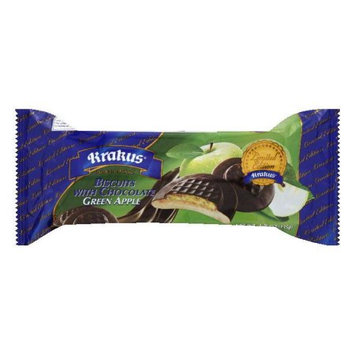 Krakus Green Apple with Chocolate Biscuits, 4.76 Oz (Pack of 21)