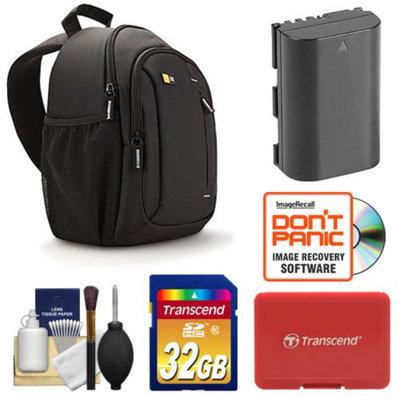 Case Logic TBC-410 Digital SLR Camera Sling Case (Black) with 32GB Card + LP-E6 Battery + Accessory Kit for Canon EOS 60D, 6D, 7D, 5D Mark II III