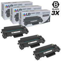 LD Compatible Replacements for Samsung MLT-D115L Set of 3 Black Laser Toner Cartridges for use in Samsung SL- M2870FW, and SL-ML2820DW Printers