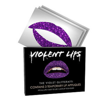 Violent Lips Temporary Lip Appliques, Violet Glitteratti, 1 ea