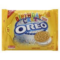 Oreo Golden Birthday Cake Sandwich Cookies
