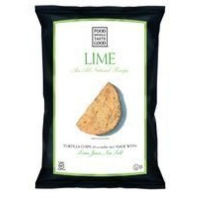 Food Should Taste Good Lime Tortilla Chips 5.5 OZ(Pack of 12)