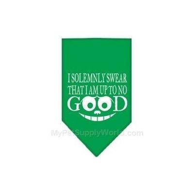 Ahi Up to No Good Screen Print Bandana Emerald Green Large