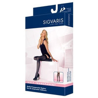 Sigvaris Truly Transparent Thigh High With Grip Top 30-40mmHg Closed Toe Long Length, Medium Long, Black Mist