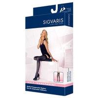 Sigvaris Truly Transparent Thigh High With Grip Top 30-40mmHg Closed Toe Long Length, Medium Long, Black Mist