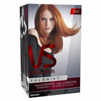 Vidal Sassoon Salonist Hair Colour Permanent Color, 7/43 Intense Red, 1 set