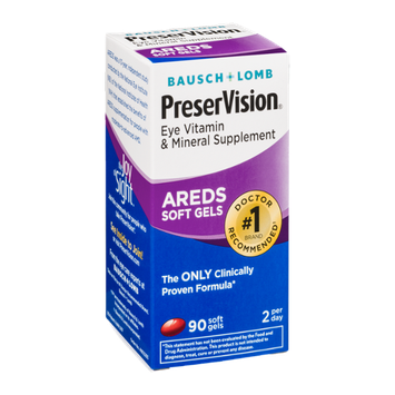 Bausch + Lomb PreserVision Eye Vitamin & Mineral Supplement Soft Gels - 90 CT