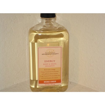 Bath & Body Works Aromatherapy Body & Shine Shampoo - Energy Blend Orange Ginger - 16 Fl. Oz.