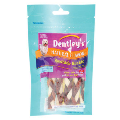 Dentley's Rawhide Braids Dog Treats