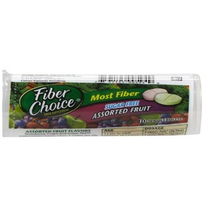 Fiber Choice Sugar-Free Chewable Tabs, Assorted Fruit, 10 ct