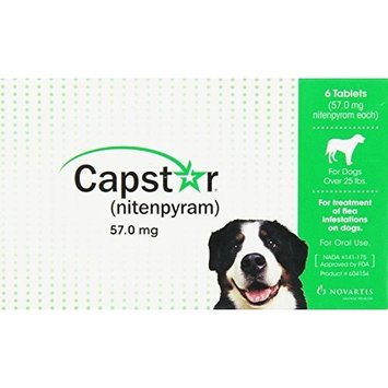 Novartis Capstar for Dogs over 25 lbs GREEN