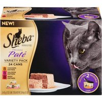Sheba Variety Pack Premium Pate Premium Canned Cat Food, 3 oz, 24-Pack