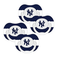 Baby Fanatic York Yankees MLB 4-pack Baby Pacifiers