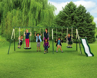 Sportspower Limited Sportspower Adventure Play II 9-Play Metal Swing Set