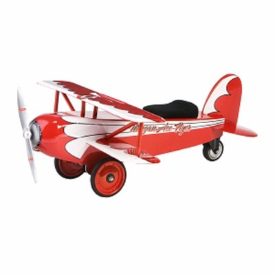 Morgan Cycle Ace Flyer BiPlane Ride-On, 1 ea