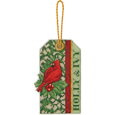 Dimensions Susan Winget Holly Ivy Ornament Counted Cross Stitch Kit 14 Count Plastic Canvas