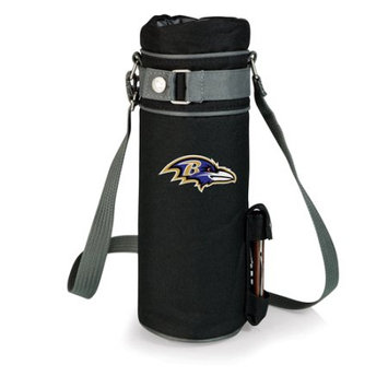 Nfl - Baltimore Ravens Picnic Time NFL Baltimore Ravens Wine Sack Digital Print Insulated Single Bottle Tote