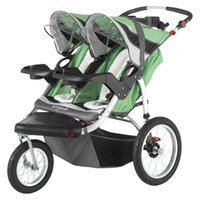 Schwinn Turismo Swivel Jogger Double - Green/Black