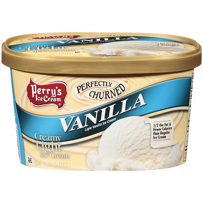 Perry's Ice Cream Perfectly Churned Vanilla Creamy Light Ice Cream, 1.5 qt
