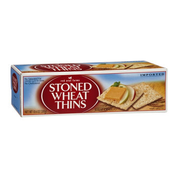 Red Oval Farms Stoned Wheat Thins Imported Wheat Crackers