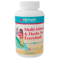 Michaels Michael's Health Products - Multi-Minerals & Herbs For Everybody, 240 tablets
