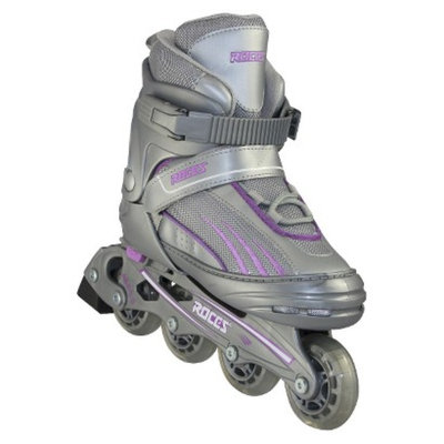 American Athletic Shoe Co Girls' Roces Adjustable Inline Skates - Silver/ Purple (Small)