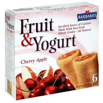 Barbara's Bakery Fruit and Yogurt Bar, Cherry Apple, 6-Count 8.9-Ounce Boxes (Pack of 8)