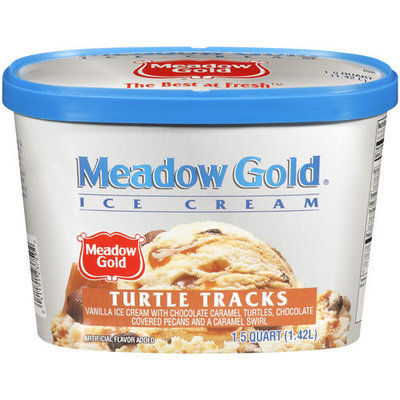 Meadow Gold Turtle Tracks Ice Cream, 1.5 qt