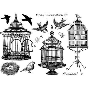 Cam Consumer Products, Inc. Crafty Individuals Unmounted Rubber Stamp Beautiful Birdcages